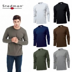 T-SHIRT STEDMAN ST2130 CONFORT UOMO COTONE MANICA LUNGA MEN
