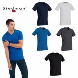 T-SHIRT STEDMAN ST9610 COTONE UOMO SCOLLO A V MANICA CORTA MODA