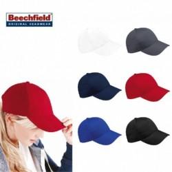CAPPELLO Beechfield ESTIVO B15 U UNISEX COTONE 5 PANNELLI VISIERA PRECURVATA BICOLORE BASEBALL