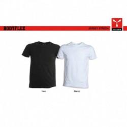 t-shirt bodyflex payper uomo a girocollo con manica corta stretch jersey 150gr
