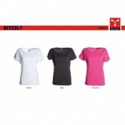 t-shirt beverly payper donna ampio scollo con manica corta jersey 135gr