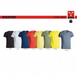t-shirt discovery payper uomo ampio scollo con manica corta jersey 135gr effetto fiammato