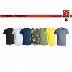 t-shirt neutral discovery payper uomo ampio scollo con manica corta jersey 135gr effetto fiammato