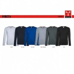 t-shirt pineta payper uomo a girocollo con manica lunga jersey 165gr