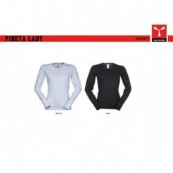 t-shirt pineta lady payper donna a girocollo con manica lunga jersey 165gr
