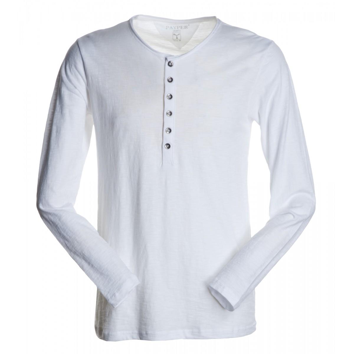 8cd65eec99 t-shirt metropolitan payper uomo manica lunga con apertura con ...