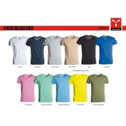 t-shirt underground payper uomo ampio scollo con manica corta jersey 150gr