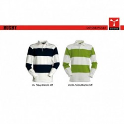 polo rugby payper uomo bicolore a manica lunga jersey 220gr