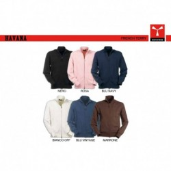 felpe unisex multistagione havana payper  full zip french terry 300gr
