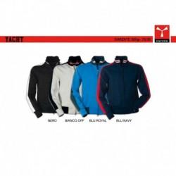 Felpa YACHT PAYPER uomo  bi-colore full-zip garzata 320gr