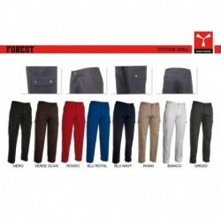 Pantalone FOREST PAYPER uomo multitasche cotone twill 280gr