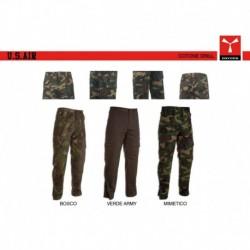 Pantalone U.S. AIR PAYPER cerniera restringimento fondo gamba multitasche cotone twill 280gr