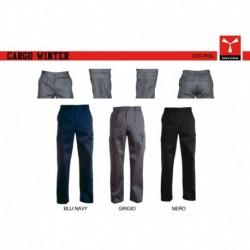 Pantalone CARGO WINTER PAYPER uomo multitasche con dettagli a contrasto satin fustagno 340g