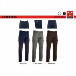 Pantalone ADVENTURE PAYPER uomo multitasche stretch twill 13oz