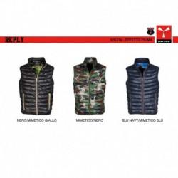 Gilet REPLY PAYPER uomo classico con zip intera con dettagli a contrasto nylon 420t 38g