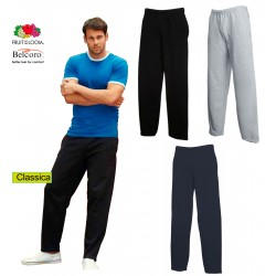 PANTALONE FRUIT OF THE LOOM FR640320 TUTA COTONE UOMO FELPATI