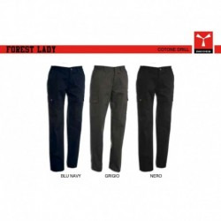 Pantalone FOREST LADY PAYPER donna multitasche cotone twill 280gr