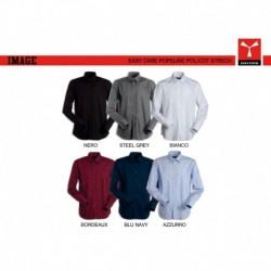 Camicia IMAGE Payper uomo a manica lunga easy care popeline 125gr con 65%poliestere,32% cotone e 3% spandex