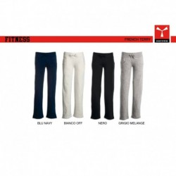 Pantalone FITNESS LADY PAYPER donna in felpa a gamba dritta french terry 300gr