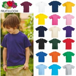 T-SHIRT BAMBINO FR610330 FRUIT VALUEWEIGHT KIDS 100% COTONE MANICA CORTA