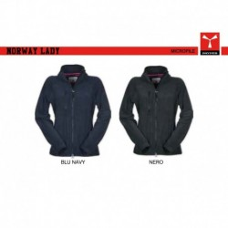 Giacca pile NORWAY LADY PAYPER manica reglan donna con zip intera pile 280gr