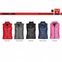 Gilet CASUAL LADY PAYPER donna classico con zip intera nylon 420t 38g