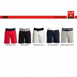 Bermuda RING PAYPER uomo e shorts in felpa con banda elastica in contrasto french terry 220gr