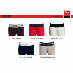Bermuda VOLLEY PAYPER donna e shorts in felpa con banda elastica in contrasto french terry 220gr