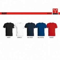 T-shirt BABY PAYPER a girocollo con manica corta jersey 150gr