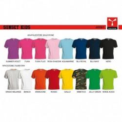 T-shirt SUNSET KIDS bambino PAYPER a girocollo con manica corta jersey 150gr