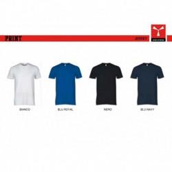 T-shirt PRINT PAYPER uomo a girocollo con manica corta jersey 140/150 gr