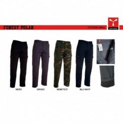 Pantalone FOREST POLAR PAYPER uomo multitasche cotone twill poliestere tricot 280gr + fodera
