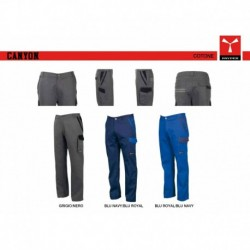 Pantalone CANYON PAYPER multitasche con dettagli a contrasto twill 265gr