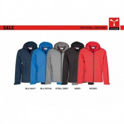 Soft-shell GALE PAYPER uomo ergonomica con cappuccio a coullisse e full zip 3000mm/3000mvp