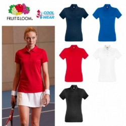Performance FRUIT Polo Donna MANICA CORTA FR630400 100% POLIESTERE
