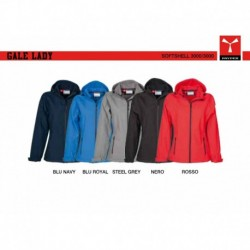 Soft-shell GALE LADY PAYPER donna ergonomica con cappuccio a coullisse full zip 3000mm/3000mvp