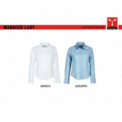 Camicia MANAGER LADY PAYPER donna a manica lunga easy care popeline 125gr