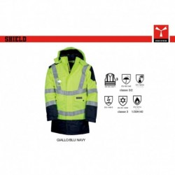 Giubbotto giacca SHIELD PAYPER lavoro bicolore triplo-uso oxford 300d 200gr multi-pro spalmato pu