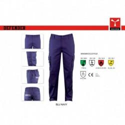 Pantalone DEFENDER PAYPER lavoro multitasche con dettagli a contrasto twill multi-pro 280g