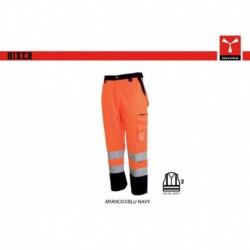 Pantalone BIKER PAYPER alta visibilita' multitasche con dettagli a contrasto satin 260gr