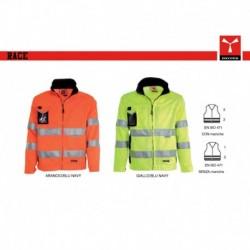 Giubbotto giacca RACE PAYPER alta visibilita' imbottito con maniche staccabili satin 260gr