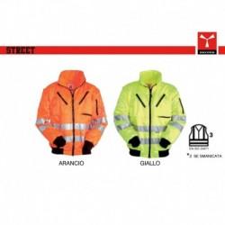 Giubbotto giacca STREET PAYPER leggero alta visibilita' maniche staccabili taffeta' poliestere/cotone