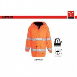 Giubbotto giacca AIRPLUS PAYPER alta visibilita' striplo uso taffeta' polistere spalmato pu 300d 170g