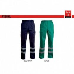 Pantalone VISUAL PAYPER lavoro multitasche con dettagli a contrasto satin 220gr