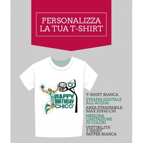t-shirt personalizzata Payper stampa all'acqua