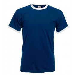 T-SHIRT UOMO MANICA CORTA COTONE BICOLORE GIROCOLLO FRUIT OF THE LOOM FR611680