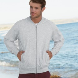 Felpa FR621620 FRUIT Uomo Baseball sweat jacket 80%C20%P