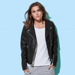 Giacca ST5350 STEDMAN Donna Active Biker Jacket 100%POLYUR
