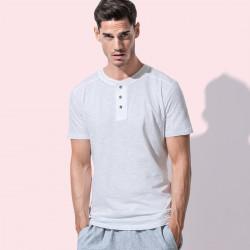 T-Shirt ST9430 STEDMAN Uomo T-SHIRT SHAWN HENLEY 100%C