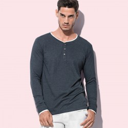 T-Shirt ST9860 STEDMAN Uomo LUKE LONG SLEEVE H. 60%C-40%P